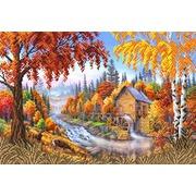 """Ткань с рисунком для вышивки бисером Матрёнин посад """"Осень"""""""