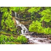 """Ткань с рисунком для вышивки бисером Матрёнин посад """"Водопад в лесу"""""""