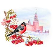 """Ткань с рисунком для вышивки бисером Матрёнин посад """"Московская зима"""""""