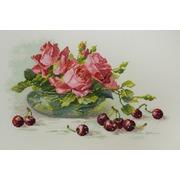 """Набор для вышивания крестом Марья искусница """"Розы и черешня"""""""