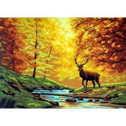 """Канва/ткань с нанесенным рисунком Gobelin-L """"Время года осень"""""""