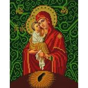 """Ткань с рисунком для вышивки бисером Конёк """"Богородица Почаевская"""""""