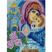 """Ткань с рисунком для вышивки бисером Конёк """"Богородица"""""""