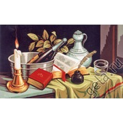 "Канва/ткань с нанесенным рисунком Gobelin-L ""Натюрморт со свечей"""