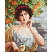 """Набор для вышивания крестом Luca-S """"Красавица под апельсиновым деревом"""""""