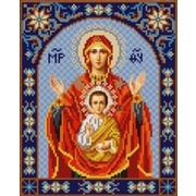"""Ткань с рисунком для вышивки бисером Конёк """"Богородица Знамения"""""""