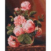 "Гобелен Luca-S ""Розы в вазе"""