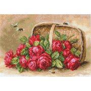 """Канва с нанесенным рисунком Матрёнин посад """"Знойные розы"""""""
