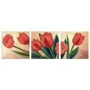 """Ткань с рисунком для вышивки бисером Глурия (Астрея) """"Триптих. Весений букет"""""""