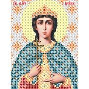 """Ткань с рисунком для вышивки бисером Вертоградъ """"Святая Великомученица Ирина"""""""