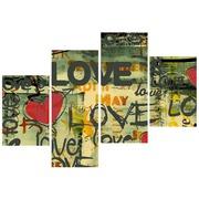 """Ткань с рисунком для вышивки бисером Глурия (Астрея) """"Полиптих. Слова любви"""""""