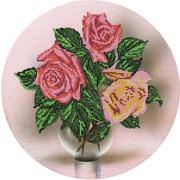 """Ткань с рисунком для вышивки бисером Глурия (Астрея) """"Розы на холсте"""""""