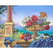 """Ткань с рисунком для вышивки бисером Глурия (Астрея) """"Античный натюрморт"""""""