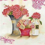 """Ткань с рисунком для вышивки бисером Глурия (Астрея) """"Красный натюрморт"""""""