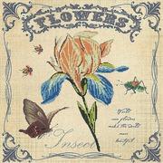 """Ткань с рисунком для вышивки бисером Глурия (Астрея) """"Цветочные мотивы"""""""