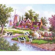 """Ткань с рисунком для вышивки бисером Глурия (Астрея) """"Коровы"""""""