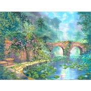 """Ткань с рисунком для вышивки бисером Глурия (Астрея) """"Каменный мост"""""""