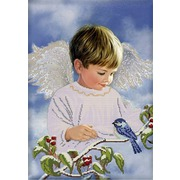 """Ткань с рисунком для вышивки бисером Глурия (Астрея) """"Ангельские радости"""""""