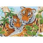 """Ткань с рисунком для вышивки бисером Глурия (Астрея) """"Тигриная нежность"""""""