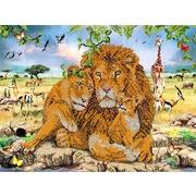 """Ткань с рисунком для вышивки бисером Глурия (Астрея) """"В мире животных"""""""