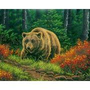 """Ткань с рисунком для вышивки бисером Глурия (Астрея) """"Бурый медведь"""""""
