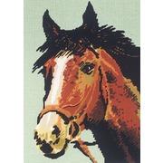 """Канва/ткань с нанесенным рисунком Diamant """"Голова рыжего коня"""""""