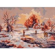 "Канва с нанесенным рисунком Gobelin-L ""Зима"""