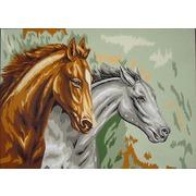 "Канва с нанесенным рисунком Gobelin-L ""Два коня"""