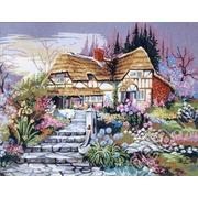 "Канва с нанесенным рисунком Gobelin-L ""Цветущий сад"""