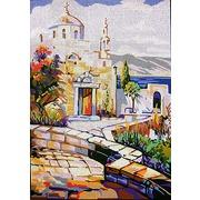"Канва с нанесенным рисунком Gobelin-L ""Греческий храм"""