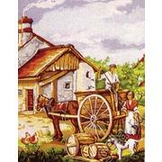 """Канва с нанесенным рисунком Gobelin-L """"Сельские будни"""""""
