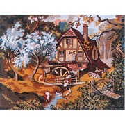 """Канва с нанесенным рисунком Gobelin-L """"На мельнице весной"""""""