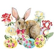 """Ткань с рисунком для вышивки бисером Матрёнин посад """"Пасхальный кролик"""""""