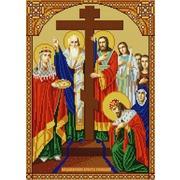 """Ткань с рисунком для вышивки бисером Конёк """"Воздвижение креста Господня"""""""