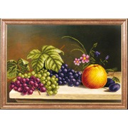"""Ткань с рисунком для вышивки бисером Магия канвы """"Яблоко с виноградом"""""""