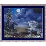 """Набор для вышивания крестом Kustom Krafts Inc. """"Битва единорогов"""""""