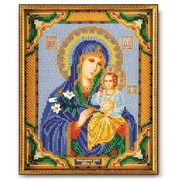 """Набор для вышивания бисером Радуга бисера (Кроше) """"Богородица Неувядаемый Цвет"""""""
