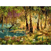 """Набор для раскрашивания Белоснежка """"Утро в лесу"""""""