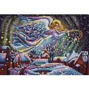 """Ткань с рисунком для вышивки бисером Конёк """"Звездная ночь"""""""