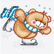 """Набор для вышивания крестом М.П. Студия """"Мишка на коньках"""""""