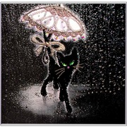 """Набор для вышивания хрустальными бусинами Образа в каменьях """"Соло под дождем"""""""