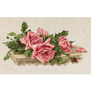 """Набор для вышивания крестом Luca-S """"Розовые розы"""""""