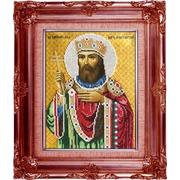 """Ткань с рисунком для вышивки бисером Вышиваем бисером """"Принт Святой Константин"""""""
