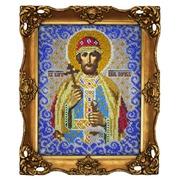 """Ткань с рисунком для вышивки бисером Вышиваем бисером """"Принт Святой Князь Борис"""""""