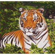"""Канва/ткань с нанесенным рисунком Gobelin-L """"Тигр"""""""