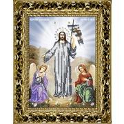 """Ткань с рисунком для вышивки бисером Вышиваем бисером """"Принт икона Воскресение Христово"""""""