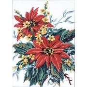 """Канва/ткань с нанесенным рисунком Gobelin-L """"Рождественский букет"""""""