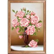 """Ткань с рисунком для вышивки бисером Магия канвы """"Свежие розы"""""""