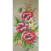 "Канва/ткань с нанесенным рисунком Gobelin-L ""Маки"""
