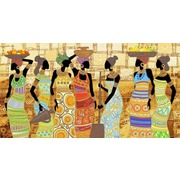 """Ткань с рисунком для вышивки бисером Конёк """"Африканский колорит"""""""